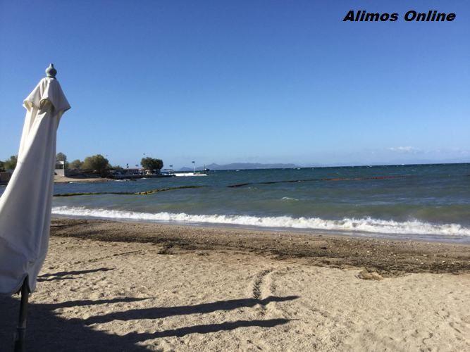 Καλύτερη σήμερα η εικόνα στις παραλίες του Αλίμου