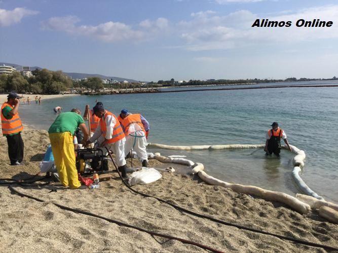 H πορεία των εργασιών απορρύπανσης στις παραλίες του Αλίμου