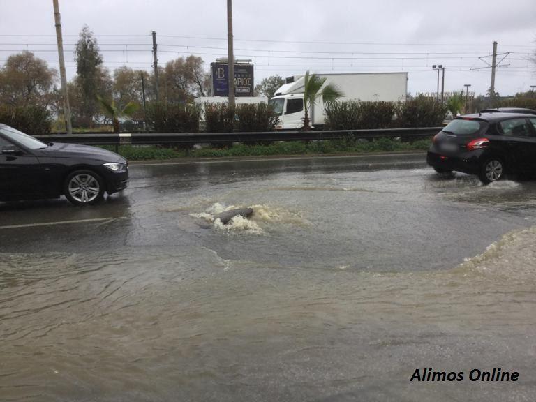 Πλημμύρισε και πάλι η Λεωφόρο Ποσειδώνος