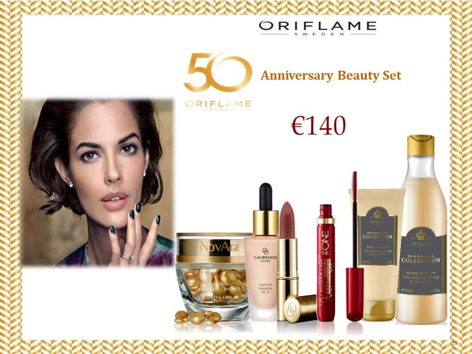 H νικήτρια του διαγωνισμού για τα 6 προϊόντα ομορφιάς της Oriflame