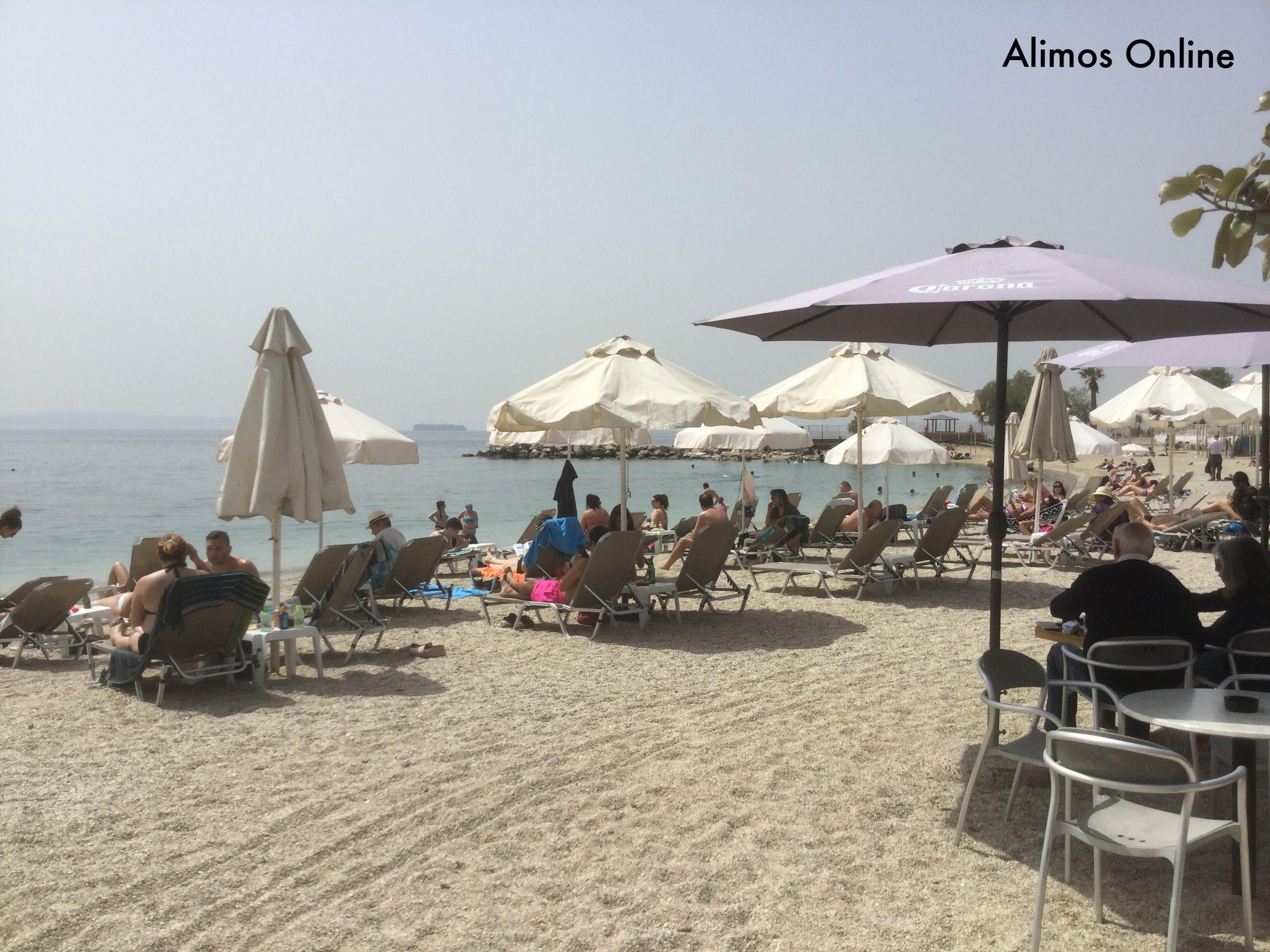 Γεμάτες και σήμερα ήταν οι καθαρές – πλέον - παραλίες του Αλίμου