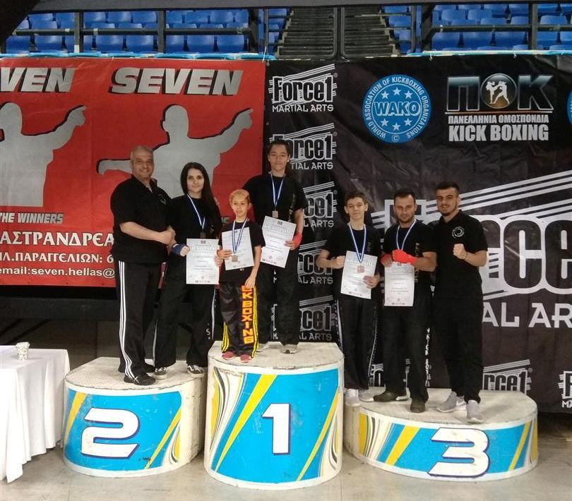 Πανελλήνιο Κύπελλο Kick Boxing για τον Α.Σ. «Φωκέα»