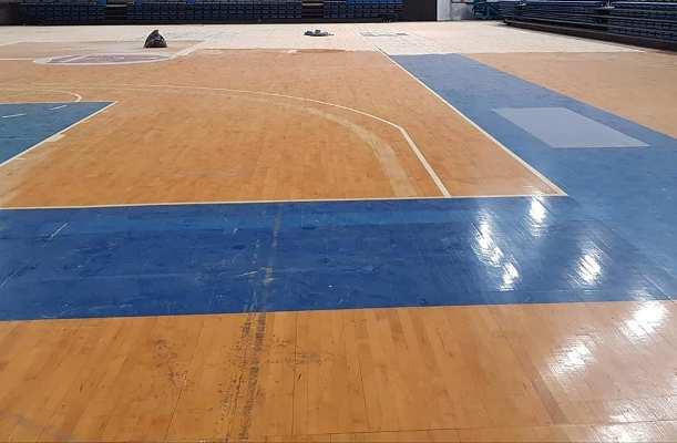 Νέο δάπεδο μπάσκετ στο προπονητικό κέντρο του Αγίου Κοσμά