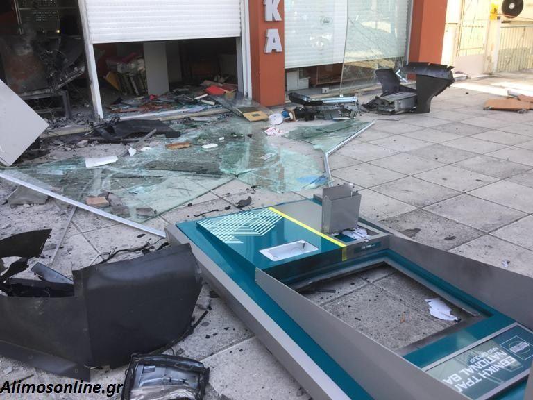 Ανατίναξαν το ΑΤΜ που βρίσκεται στο κατάστημα οπτικών στο Άνω Καλαμάκι