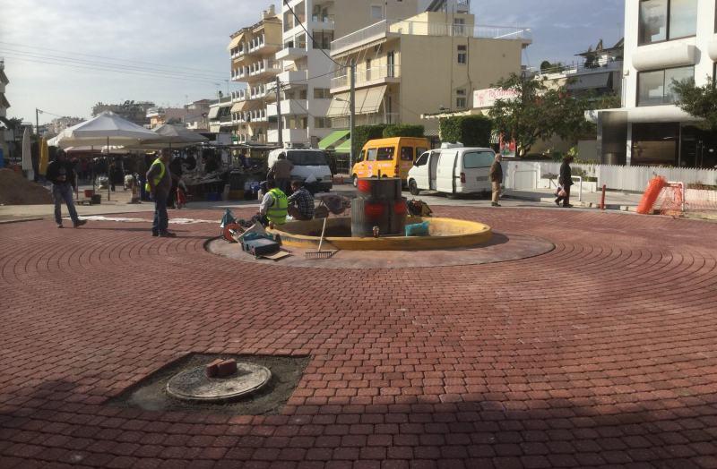 Ολοκληρώνονται σε λίγες ημέρες τα έργα στον κυκλικό κόμβο της Λ. Ιωνίας