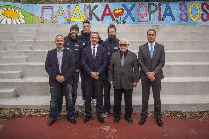 Παίκτες της Εθνικής Ομάδας Μπάσκετ επισκέφτηκαν το Παιδικό Χωριό SOS στη Βάρη