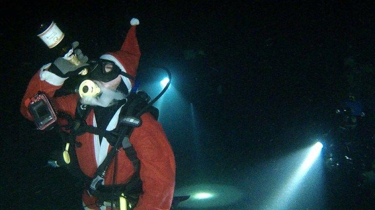 Video: Η School of Diving υποδέχτηκε το 2019 στον βυθό, ντυμένοι Άη -Βασίληδες