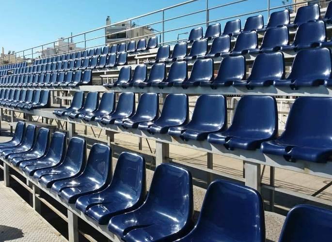 Τα νέα καθίσματα στο Γήπεδο Τραχώνων