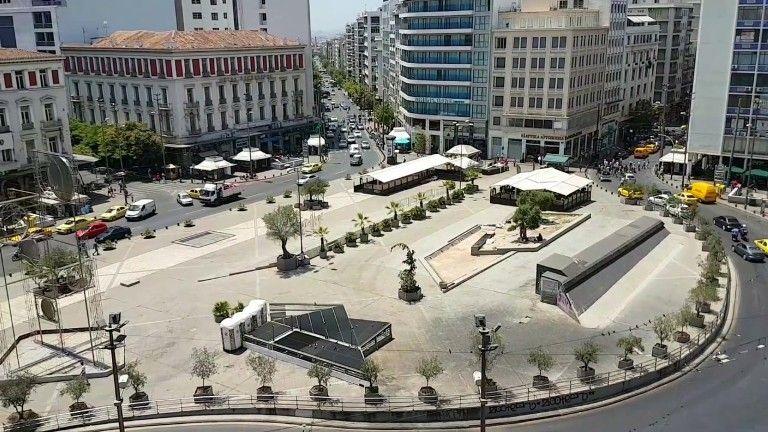 Ξεκινούν έργα στην πλατεία Ομονοίας ώστε να την κάνουν πιο…δροσερή για το καλοκαίρι