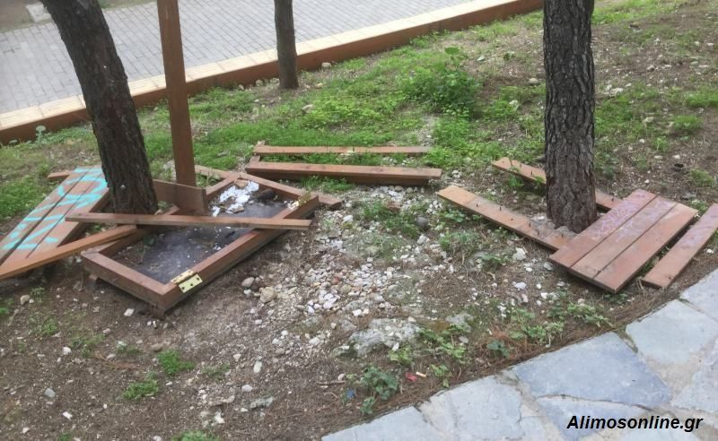 Απίστευτοι βανδαλισμοί στο παρκάκι του Αγίου Νικολάτου στο Καλαμάκι