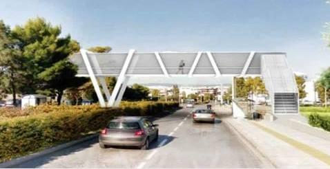 Ελληνικό: Ετοιμάζεται πεζογέφυρα στη Λ. Κύπρου