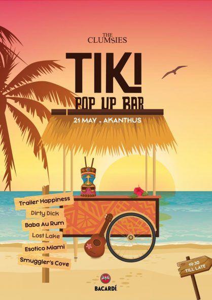 Η ομάδα του «The Clumsies» συγκεντρώνει tiki cocktails και τα σερβίρει στην παραλία Αλίμου