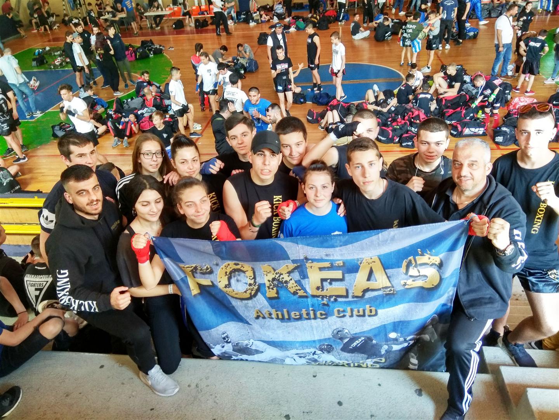 Με 7 μετάλλια επέστρεψε Α.Σ. «ΦΩΚΕΑΣ» του Αλίμου από το Acropolis kickboxing Championship