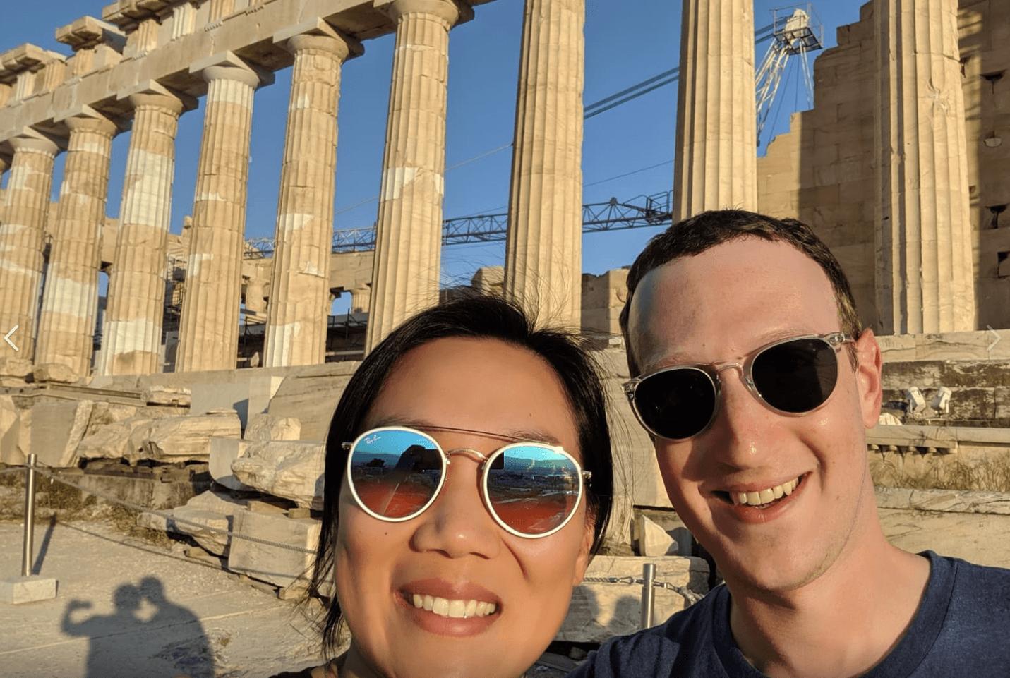 Στην Αθήνα για την επέτειο του γάμου του ο ιδρυτής του Facebook Marc Zuckerberg