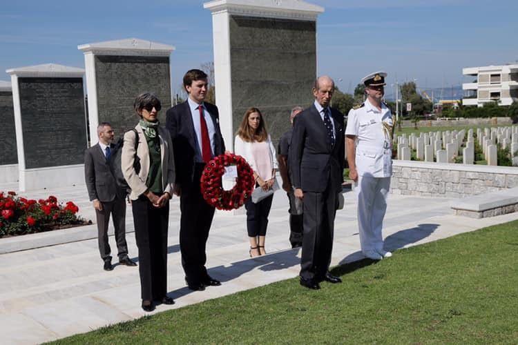 Το Συμμαχικό Κοιμητήριο στον Άλιμο επισκέφθηκε ο Δούκας του Κεντ