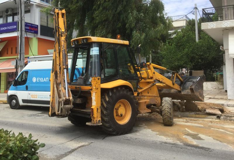 Oλοκληρώνονται σήμερα οι εργασίες της ΕΥΔΑΠ στη συμβολή της Λεωφόρου Ιωνίας με την οδό Ομήρου