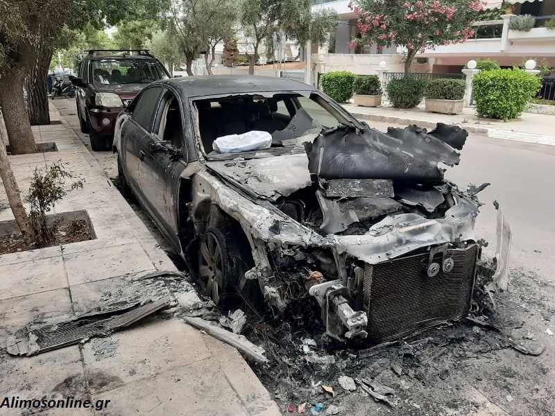 Άλιμος: Φωτογραφίες από το αυτοκίνητο της οδού Ταξιαρχών