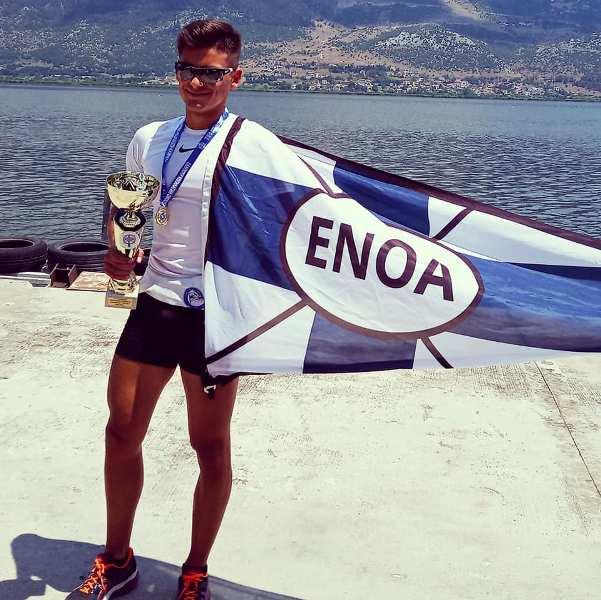 Ε.Ν.Ο.Α: Πρωταθλητής Ελλάδας στην κωπηλασία ο Ανδρέας Αθανασιάδης – Καουδης