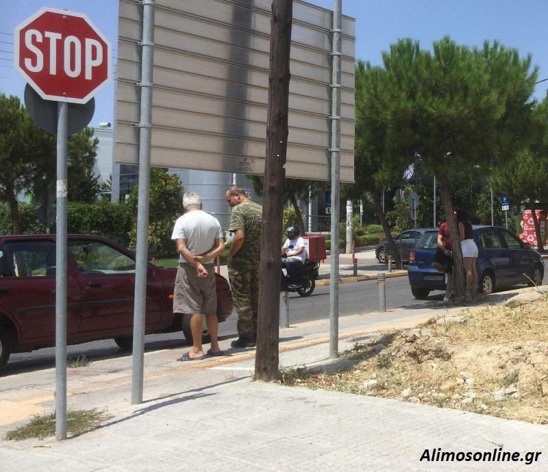 Τροχαίο ατύχημα στη Λ. Καλαμακίου