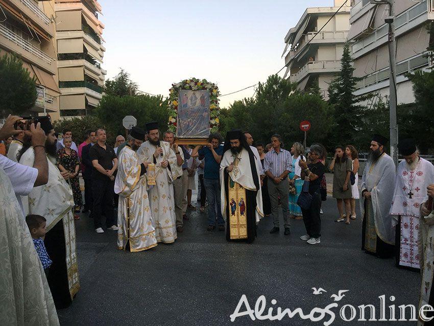 Έγινε απόψε η περιφορά της Ιερής Εικόνας της Μεταμόρφωσης του Σωτήρος στο Καλαμάκι