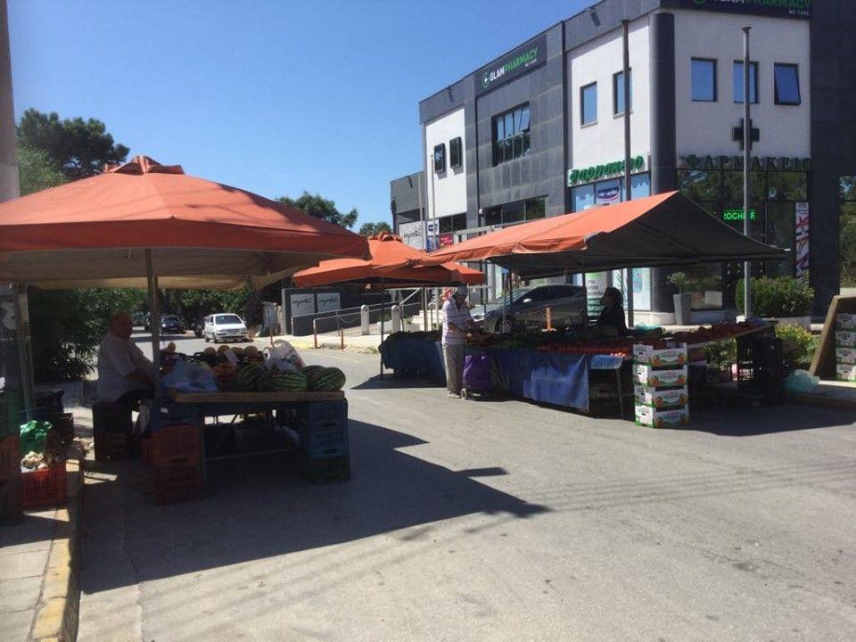 Λαϊκή Αγορά με δύο πάγκους  μόνο στην οδό Αγ. Γερασίμου