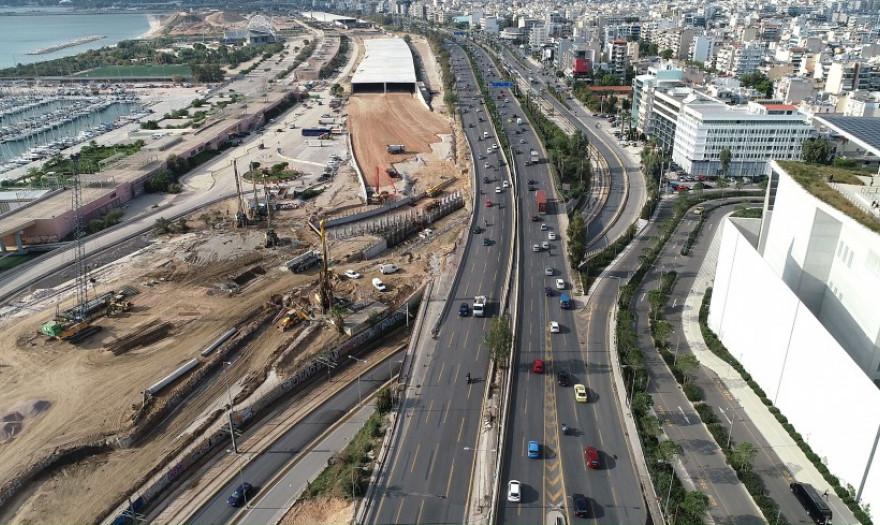 Κυκλοφοριακές ρυθμίσεις στο Φάληρο έως και τον Οκτώβριο λόγω της ανάπλασης του Φαληρικού Όρμου