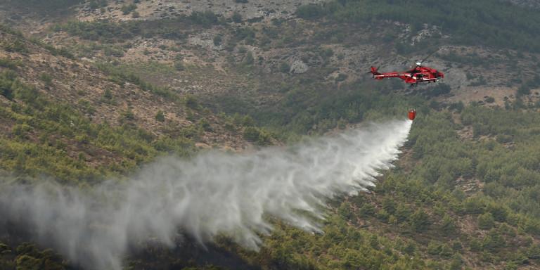 Πυρκαγιά στο Λαγονήσι – Μάχη με τις φλόγες δίνουν οι πυροσβέστες