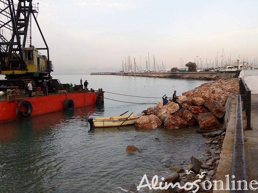 Η εξέλιξη των εργασιών για την αποκατάσταση του παραλιακού πεζόδρομου