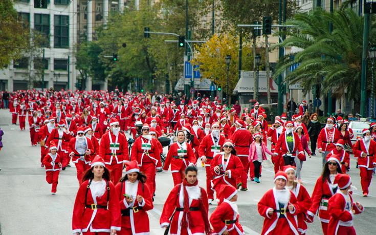 6ο Santa Run: Το κέντρο της Αθήνας θα γεμίσει Αγιοβασίληδες