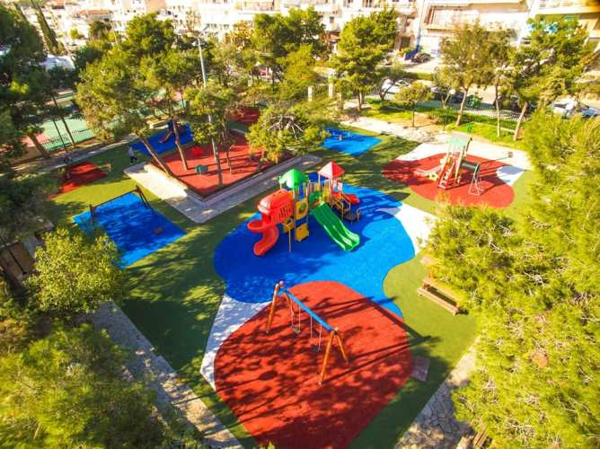 Η νέα παιδική χαρά του Ελληνικού έχει ειδικά διαμορφωμένο χώρο για τα βρέφη