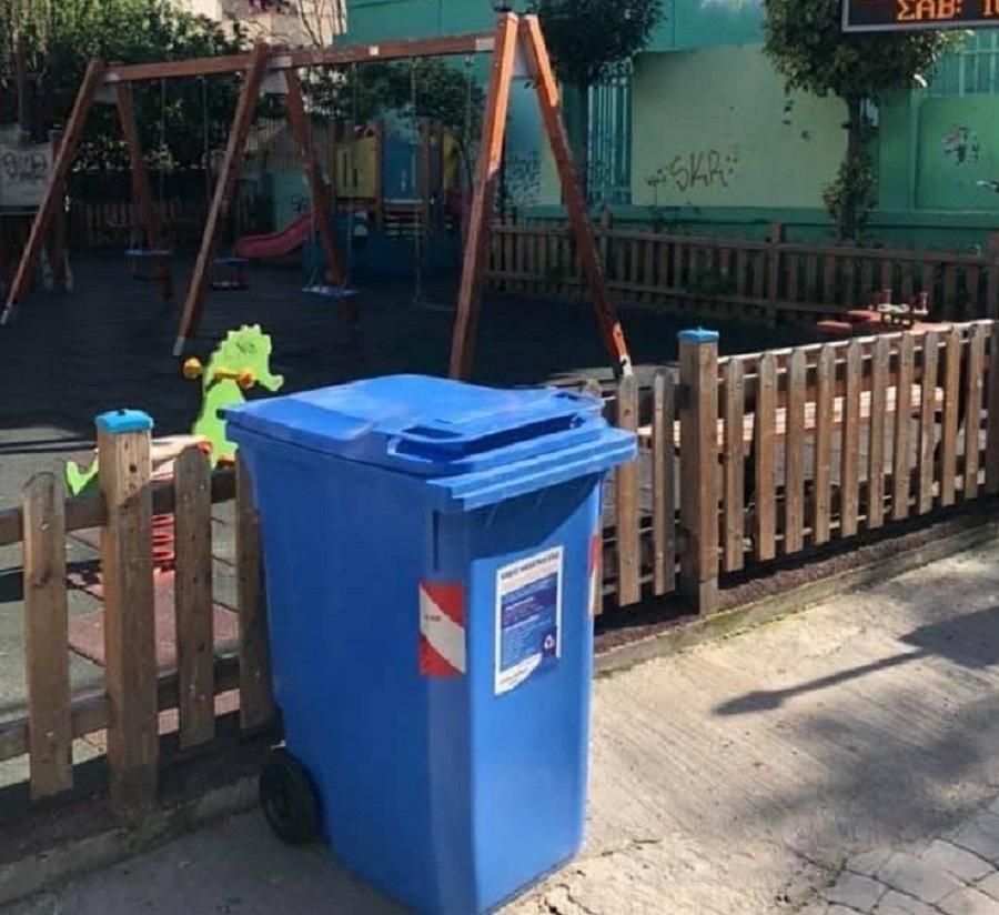 Γιάννης Αντωνάκης: Κάδοι ανακύκλωσης σε όλες τις παιδικές χαρές