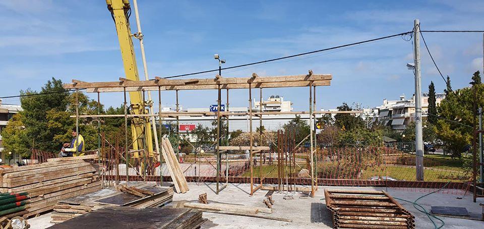 Ξεκίνησε η κατασκευή για την θεατρική σκηνή της αίθουσας πολλαπλών χρήσεων στο Ελληνικό