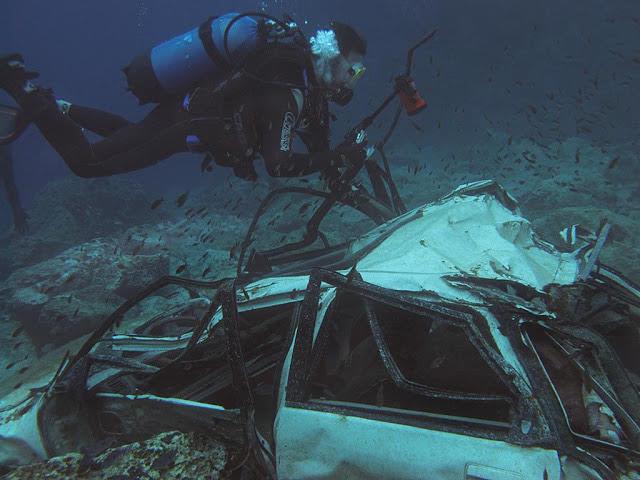 Λεγρενά: Το σημείο «αυτοκίνητα» πήρε το όνομά του από το 'νεκροταφείο' αυτοκινήτων κάτω από την επιφάνεια της θάλασσας