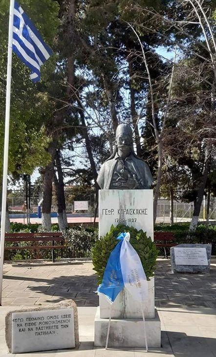 Ένα στεφάνι εκ μέρους όλων των πολιτών κατέθεσε ο Ανδρέας Κονδύλης - Το μήνυμά του