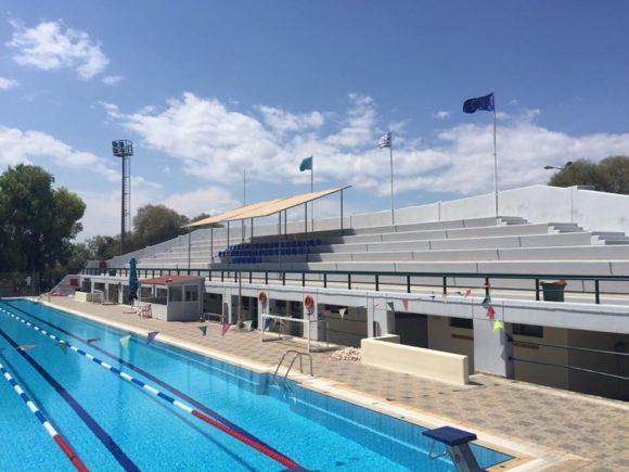 Βάφονται οι εσωτερικοί χώροι του Δημοτικού Κολυμβητηρίου Αλίμου