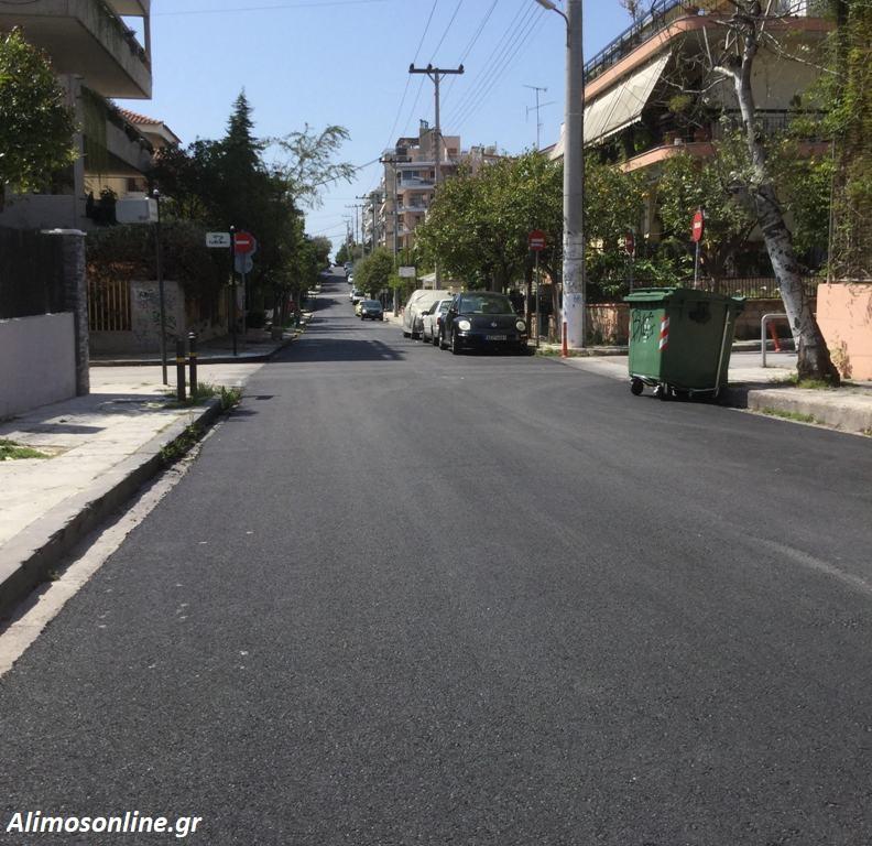 Ολοκληρώθηκε η ασφαλτόστρωση της οδού Αλαμάνας