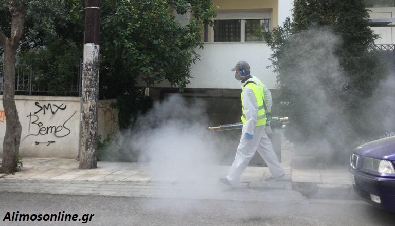 Συνεχίζονται οι απολυμάνσεις σε δρόμους της πόλης μας