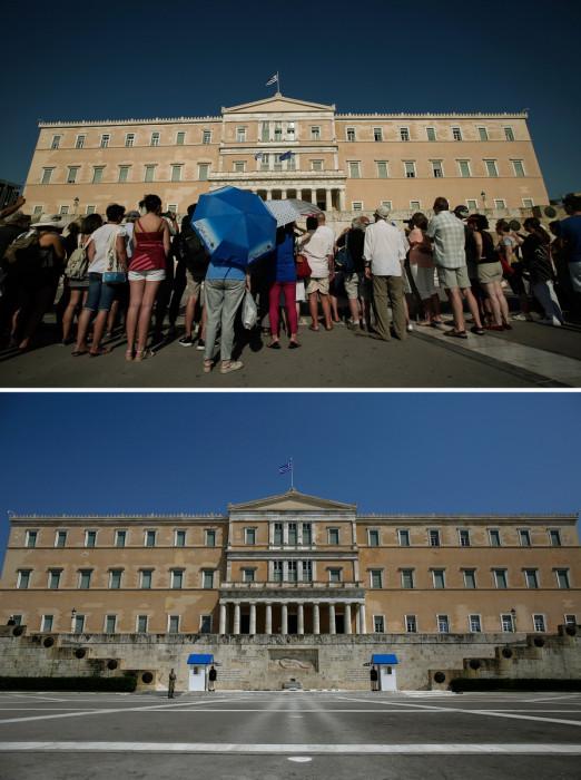 Φωτογραφίες από το κέντρο της Αθήνας πριν και μετά το lockdown