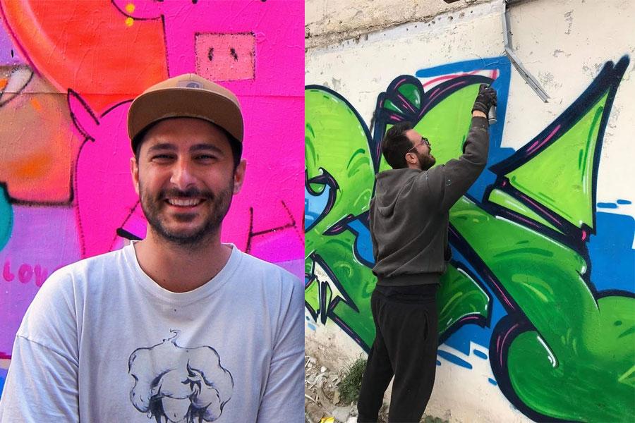 Yiakou και Born: οι δύο street artists που ζωγραφίζουν τα ΚΑΦΑΟ του Αλίμου