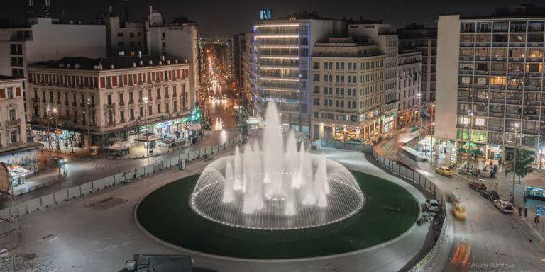 Η πλατεία Ομονοίας, με το εντυπωσιακό σιντριβάνι της, ανοίγει απόψε για τους πολίτες και τους επισκέπτες της πόλης
