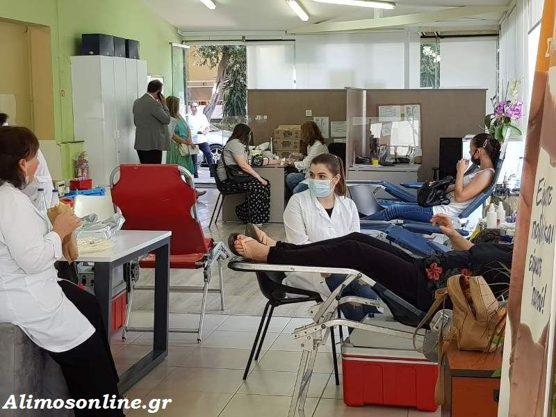 Συγκεντρώθηκαν 96 φιάλες αίμα για την Τράπεζα Αίματος του Δήμου Αλίμου