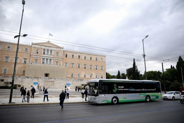 Το ηλεκτρικό λεωφορείο ξεκίνησε τα δοκιμαστικά δρομολόγια στους δρόμους της Αθήνας