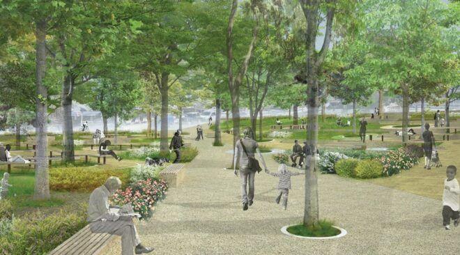 Ένας βοτανικός κήπος στη νέα πλατεία της Βουλιαγμένης