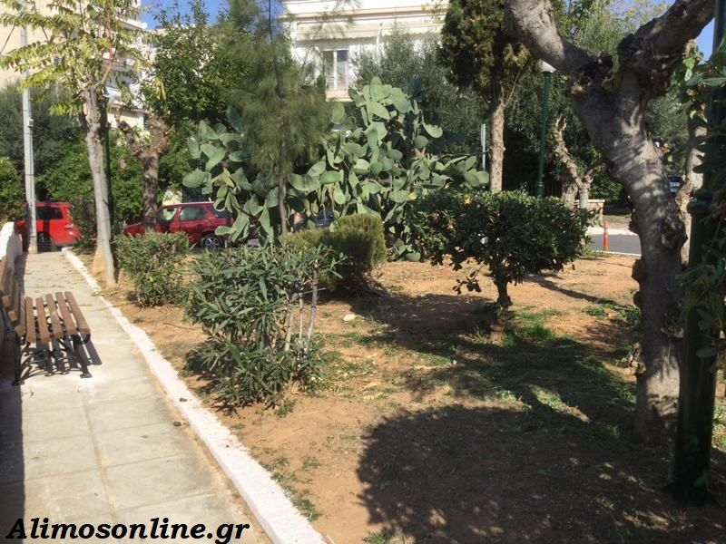 Περιποίηση και φροντίδα στο παρκάκι των οδών Αθ. Διάκου και Τσουκανέλη