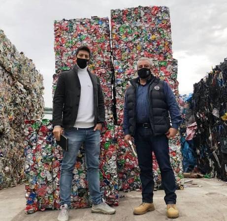 Οι Αντιδήμαρχοι Γιάννης Αντωνάκης και Γιώργος Μακαριγάκης επισκέφτηκαν το Κέντρο Διαλογής Ανακυκλώσιμων Υλικών