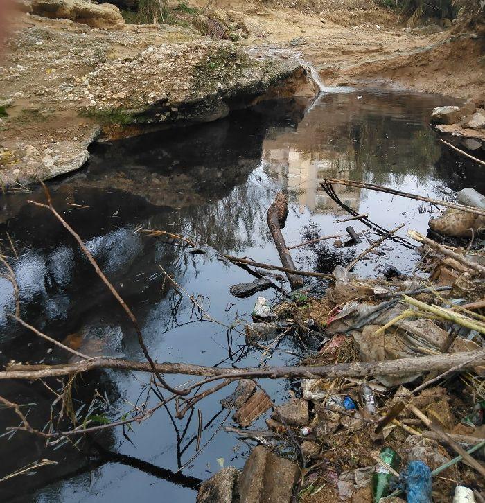 Η μόνιμη απειλή για το ρέμα της Πικροδάφνης είναι η ρύπανση από πετρέλαιο