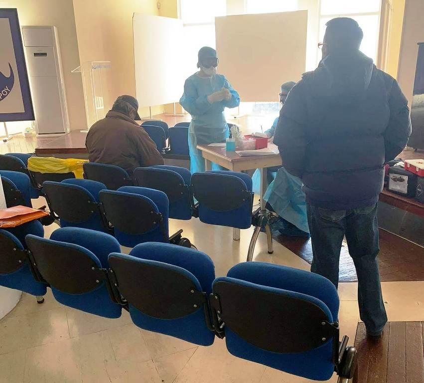 Rapid tests στους άστεγους του Παλαιού Φαλήρου