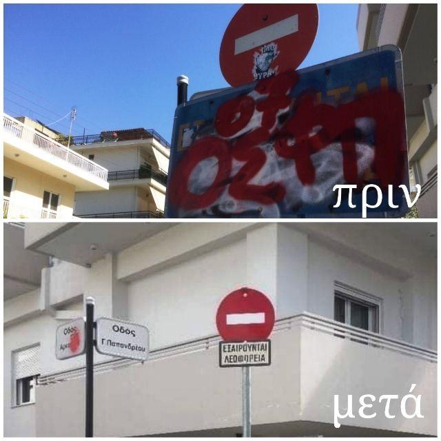 40 φθαρμένες πινακίδες έχει αντικαταστήσει τον τελευταίο διάστημα ο Δήμος Αλίμου