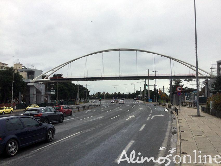 Εργασίες ξεκινούν από αύριο στη επί της Λεωφόρου Ποσειδώνος στην πεζογέφυρα του Παλαιού Φαλήρου