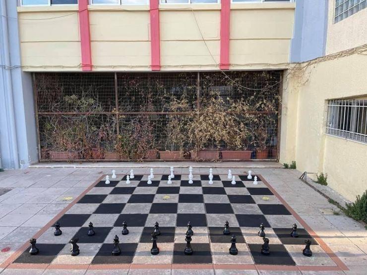 H επιδαπέδια σκακιέρα του 4ου Γυμνασίου Αλίμου